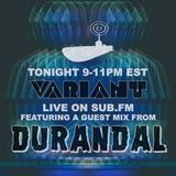 Guest Mix for the DJ Variant show on Sub.fm