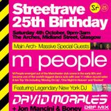 David Morales - 25 Years STREETrave, The Arches, Glasgow - 04-Oct-2014