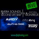 Alpha-Dog LIVE @ Riviera Sounds |Second Life Bar Montreux |2.7.2016