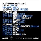 Dubfire b2b N.Moudaber  b2b P. Osuna - Live @ Resistance Ibiza at Privilege (Ibiza, ES) - 24.07.18