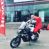 Svečiuose - A. Bubinas: kelionės motociklu