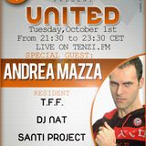 T.F.F. pres UNITED 14 - 01.10.13 - WITH T.F.F., DJ NAT, SANTIPROJECT. SPECIAL GUEST ANDREA MAZZA