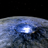 Ceres shines in the dark