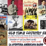 130- Old Time Country Shots (14 Abril 2018)