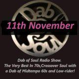 "Dab of Soul Radio Show 11th November 2019 - ""Matt Fox studio guest"""