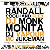 Coolhand Flex Live @ Hardcore Junglism 1st Birthday Live stream 030315 - www.hardcorejunglism.com