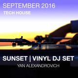 2016 SEPTEMBER [SUNSET VINYL DJ MIX] by YAN ALEXANDROVICH