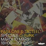 """Para One & Jérôme """"Tacteel"""" Echenoz - G-Funk Mix On Rinse FR - 10/03/15"""