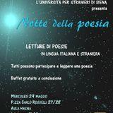 Notte della Poesia 2013 -Università per Stranieri di SIena 30/05/2013
