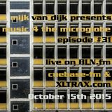Music 4 The Microglobe #31 (October 2015)