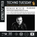 Roman Weber live at Techno Tuesday Amsterdam - Melkweg - 05 June 2018