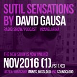 Sutil Sensations Radio Show/Podcast - November 3rd 2016 - With tremendous new music and hot beats!