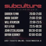 Will Atkinson Live @ Subculture @ The Wright Venue, Dublin, Ireland 27-12-2014