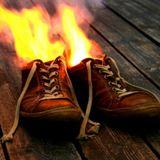 Stop my feet is on fire