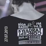 KWADRAT Concept @RigaRadio 2013.07.27