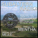 Mentha b2b Mejle - Subaltern Radio 09/06/2016 on SUB.FM