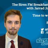 Monday 10th August 2015 - The Siren FM Breakfast Show with Jarrad Johnson