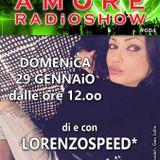 LORENZOSPEED presents AMORE Radio Show 684 Domenica 29 Gennaio 2017 12 years with GiACOMO FORASACCO