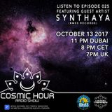 Cosmic Hour Radio Show with Moon Tripper - Episode 025 Guest Artist Synthaya (BMSS Records)