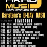 HardMusicMotherFuckerz ´Karsten´s B-Day Bash´- Cre8 & with the Boss - Liveset - (10.06.2017)