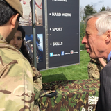 Minister Visits Army's First Super Camp