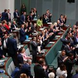 Champagne flows at Parliament after same sex marriage vote