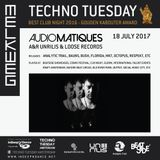 AUDIOMATIQUES @ TECHNO TUESDAY - MELKWEG (AMSTERDAM - NL) 18.07.2017 (FREE DOWNLOAD)