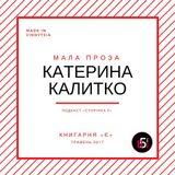 Довга розмова про малу прозу: Катерина Калитко