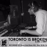DBHQ 097 Toronto Is Broken LIVE @ Work London for Drum And Bass HQ : live
