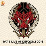Pat B At Defqon 1 2016 (Liveset recording White/Freestyle area)