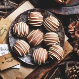 Bailey's cheesecake truffles SAINSBURY'S Mag recipe GORGEOUS KITCHEN