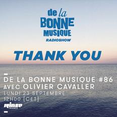 De La Bonne Musique Radio Show #86 - 23 Septembre 2019
