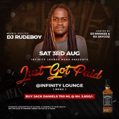 Dj Rudeboy - Just Got Paid Saturdays at Infinity Lounge Meru on 03/08/2019