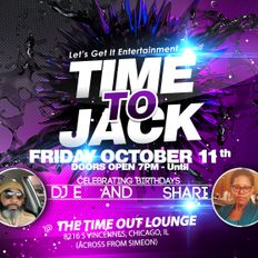 A Night @ Time Out Lounge - Time To Jack Fridays: 11 Oct 2019