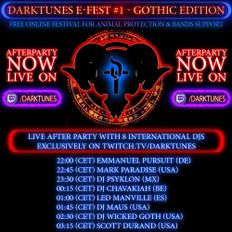 DJ Led Manville - Darktunes E-Fest #1 - Gothic Edition Live After Party (Jun 6th 2020)