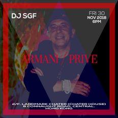 House Music Live Mix by Dj SGF at Armani/Privé Hong Kong