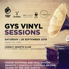 Vol 512 GYS Vinyl Sessions: Sound of Xee & Sumthin Brown 14 Oct 2019