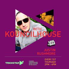 "JUSTIN RUSHMORE on TRICKSTAR ""Breaks, beats & guest KOUNCILHOUSE"" (T2)"