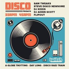 Disco Fridays! All 45s! Live!