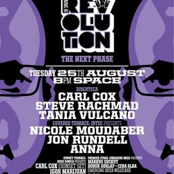 CARL COX - LIVE AT SPACE SUNSET TERRACE - MUSIC IS REVOLUTION - AUGUST 25TH - IBIZA SONICA