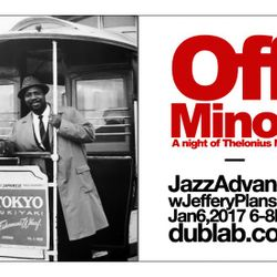 "Jeffery Plansker – Jazz Advance ""Off Minor: A Night of Thelonius Monk"" (01.06.17)"
