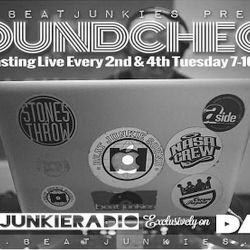 SOUNDCHECK (8.14.18) w/ RHETTMATIC on BEAT JUNKIE RADIO - SPECIAL GUEST: SUPERBAD SOLACE