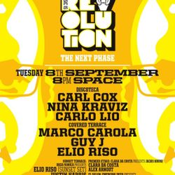 ELIO RISO - LIVE FROM CARL COX MUSIC IS REVOLUTION AT SPACE IBIZA - 8TH SEPTEMBER 2015 - IBIZA SONIC