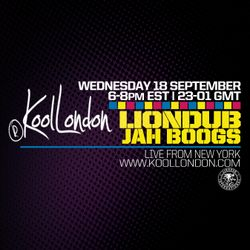 LIONDUB X JAH BOOGS - 09.18.19 - KOOLLONDON [JUNGLE DRUM & BASS}