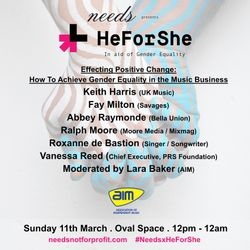 Needs x HeForShe // How To Achieve Gender Equality In The Music Industry by AIM