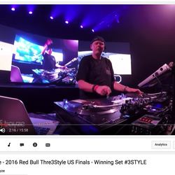 2016 Red Bull Thre3Style US Finals - Winning Set - DJ Trayze