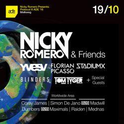 Nicky Romero b2b Sunnery James Ryan Marciano - Live @ Protocol X ADE 2016