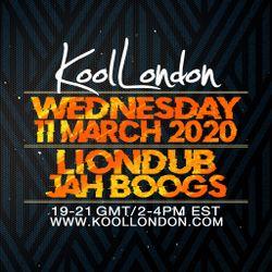 LIONDUB & JAH BOOGS - 03.11.20 - KOOLLONDON [JUNGLE DRUM & BASS]