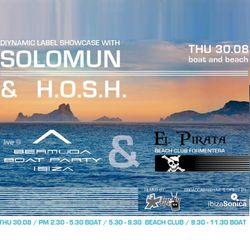 Diynamic Label Showcase with Solomun & H.O.S.H. live from El Pirata II  / 30.08.2012 / Ibiza Sonica