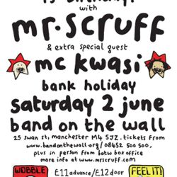 Mr Scruff DJ mix from Keep It Unreal 13th Birthday with MC Kwasi, Band On The Wall, Sat June 2 2012